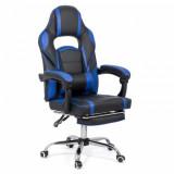 Scaun gaming cu suport de picioare OFF 302 albastru