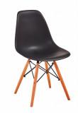 scaun scoica Lunaria negru