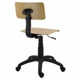 scaun lemn rotativ