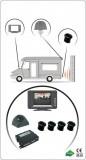 Senzor de parcare cu 4 senzori+Camera+Monitor, avertizare acustica si vizuala, pt dubite, cu Monitor TFT Model 9105M