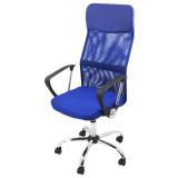 scaun de birou ergonomic albastru