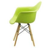 Scaun de cafenea-scoica, picioare lemn, Buc240, culori diverse