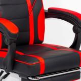 Scaun gaming cu suport de picioare OFF 302 rosu