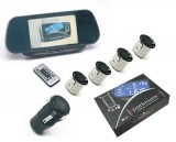 Senzor de parcare cu 4 senzori + Camera+ Monitor, avertizare acustica si vizuala cu Monitor TFT tip oglinda Model 9007