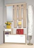 Set Mobilier Hol Filio, culoare Stejar Alb cu usi albe