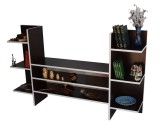 Comoda TV cu rafturi bilaterale, Wenge, Model 6035
