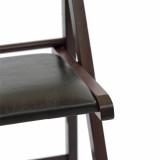 detaliu scaun pliabil lemn wenge