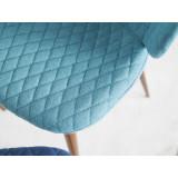Scaun Cover Vizitator, tapiterie textila Albastru/Turcoaz/Negru