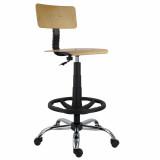 scaun pro lemn extra cilindru, baza cromata