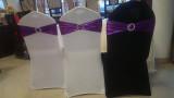 Huse elastice din Lycra pentru scaune banchet, culoare crem/alb/negru