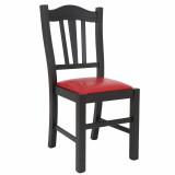 scaun lemn fag wenge  piele eco