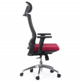 Scaun ergonomic cu brate reglabile SYYT 9504 rosu