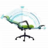 Scaun ergonomic cu spatar rabatabil si suport picioare SYYT 9502 verde
