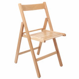 Scaun pliabil Basic cadru lemn natur, lemn Fag