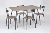 set Vega masa cu 4 scaune stejar