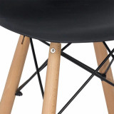 scaun de bar negru
