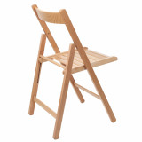 scaun pliant lemn feg natur
