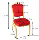 scaun conferinta albastru auriu