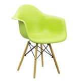 Scaun de cafenea-scoica, picioare lemn, Buc240, verde