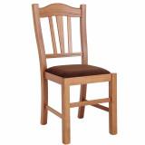 scaun lemn fag cires piele eco