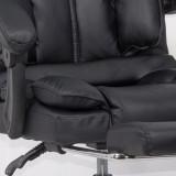 Scaun directorial cu suport de picioare OFF 415 negru