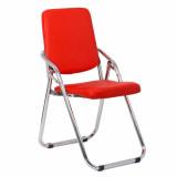 scaun pliabil cromat rosu
