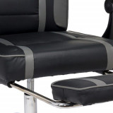 Scaun gaming cu suport de picioare OFF 302 gri