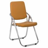 scaun pliabil cromat bej
