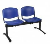 Bancute 2 locuri scaune plastic Taurus vizitatori