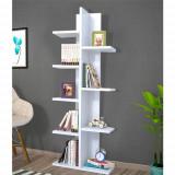 Biblioteca cu rafturi Albe Model: 6071