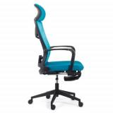 Scaun ergonomic cu spatar rabatabil si suport picioare SYYT 9502 albastru
