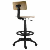 scaun lemn rotativ cilindru lung