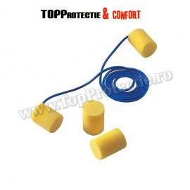 Antifoane interne clasice, galbene, formă cilindrică,model cu snur,3M