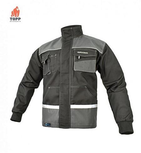Jacheta de lucru gri contrast TopWork