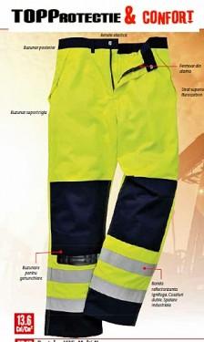 Pantaloni talie reflectorizanta Multi-Norm rezistenti la riscuri multiple