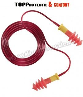 Antifoane interne,rosii cu snur PVC detasabil Earline