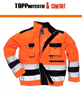Jacheta de lucru reflectorizanta portocalie sau galbena