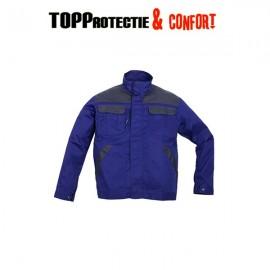 Jacheta de lucru rezistenta la uzura albastra cu fermoar Technicity