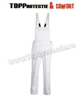 Pantaloni cu pieptar Factory, bretele elastice, confortabili, rezistenti