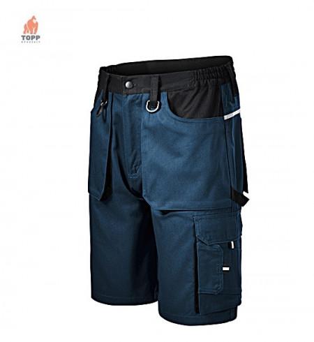 Pantaloni scurti de salopeta blerumarin reflectorizant