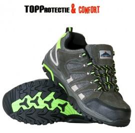 Pantofi de protectie S1P, bombeu din otel, talpa rezistenta la alunecare