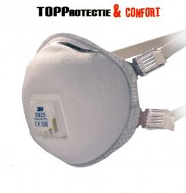 Semi masca protectie FFP2 cu carbune activ cu supapa 3M9925 - PRET 10BUC