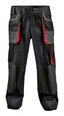 Costum salopeta cu pantaloni talie RACER negru rosu