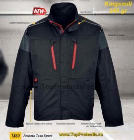 Jacheta echipamente de protectie mecanici service negru-rosu