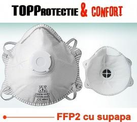 Masti de protectie cu supapa norme europene CE FFP2 - Promo la 10 buc
