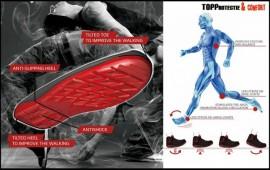 Model inovator de pantofi protectie Tehnologia Ergosafe Italia