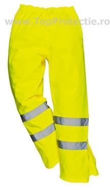 Pantaloni ploaie reflectorizanti Galben fluorescent material respirabil