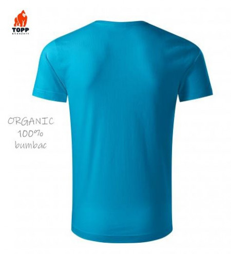 Tricou bumbac Organic turcoaz