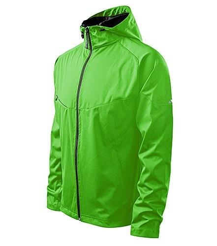 Jacheta toamna moderna subtire barbati verde fluorescent