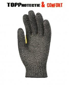Mănuși de protecție verzi, țesute cu fibre de metale, fabricate cu tehnologie Duracore